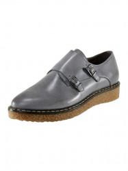 Kožené topánky Corkies, sivá