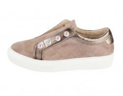 Kožené topánky GABOR s perlami, sivobéžová #1