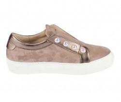 Kožené topánky GABOR s perlami, sivobéžová #2