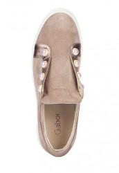 Kožené topánky GABOR s perlami, sivobéžová #3