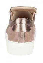 Kožené topánky GABOR s perlami, sivobéžová #5
