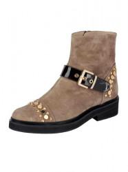 Kožené topánky HEINE, béžovo-hnedá