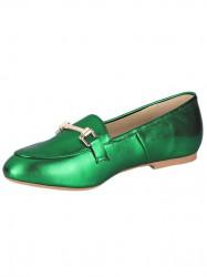 Kožené topánky Heine, zelená-metalická