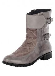 Kožené topánky so sponami xyxyx
