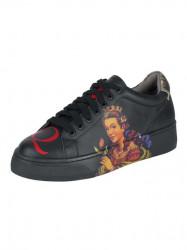Kožené topánky XYXYX s poltačou, čierna