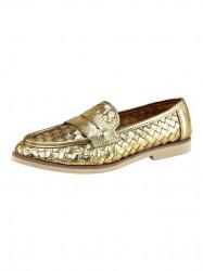 Kožené topánky xyxyx, zlatej farby