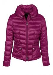 Krátka páperová bunda, fialová