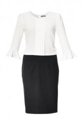 Krémovo-čierne elegantné šaty