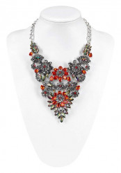 Kúzelný náhrdelník, červeno-strieborný