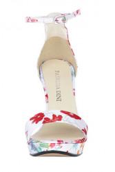 Kvetinové sandále na platforme #1