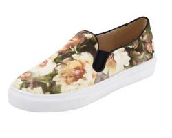 Kvetinové slippery Heine béžové