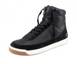 Lacoste kožené členkové sneakersy, cierne
