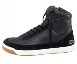 Lacoste kožené členkové sneakersy, cierne #1