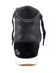 Lacoste kožené členkové sneakersy, cierne #5