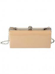 Lakovaná Clutch kabelka, púdrová #1