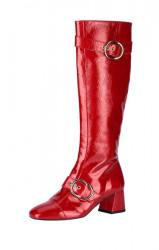 Lakované kožené čižmy HEINE, červená