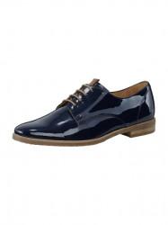 Lakované šnurovacie topánky GABOR, modrá