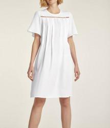 Ľanové šaty HEINE s perlami, biela