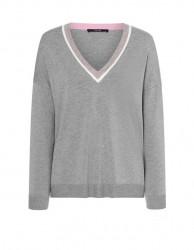 Laurèl jemný pletený sveter, sivý