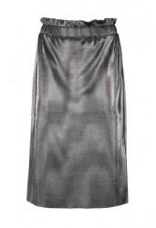 Lesklá sukňa Ashley Brooke, strieborná