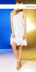 Letné biele šaty APART #3