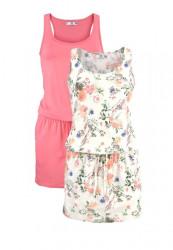 Letné šaty 2 ks, ružovo-farebné