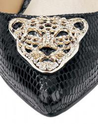 Lodičky so šperkom HEINE, čierna #7