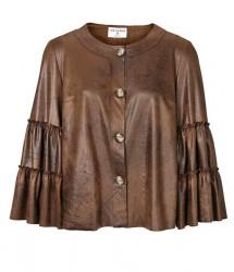 Luxusná bunda v imitácii kože Rick Cardona, koňak #1