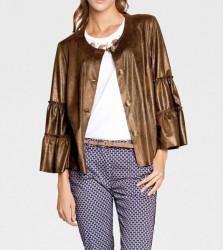 Luxusná bunda v imitácii kože Rick Cardona, koňak #3