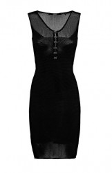 Mini šaty GUESS, čierna