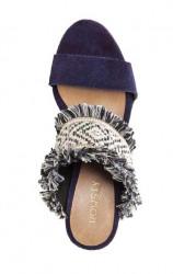 Modro-béžové etno sandále #2
