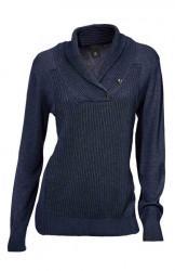 Modrý pulóver s golierom B.C. - HEINE