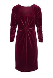 Noblesné zamatové šaty HEINE, bordová