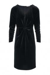 Noblesné zamatové šaty HEINE, čierna