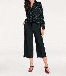 Nohavice Culotte sukňového strihu, čierne