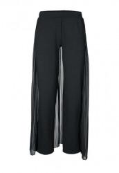 Nohavice so šifónovým topom Ashley Brooke, čierna