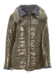 Obojstanná prešívaná bunda s kožušinkou Heine