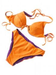 Obojstranné plavky oranžovo-fialové