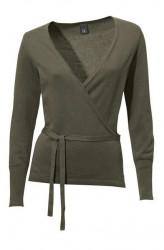 Olivový zavinovací sveter HEINE - B.C.