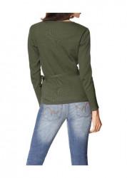 Olivový zavinovací sveter HEINE - B.C. #1