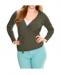 Olivový zavinovací sveter HEINE - B.C. #2