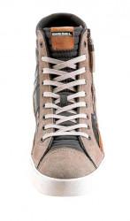 Pánske kožené členkové tenisky DIESEL, antracitová #2
