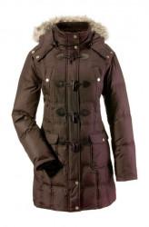 Páperová hnedá bunda s kapucňou In Linea Firenze