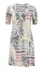Pastelové šaty s výstrihom Malvin