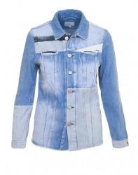 Patchwork džínsová bunda Pepe Jeans, svetlomodrá