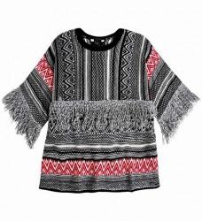 Pepe Jeans žakarový sveter v etno štýle, farebný #1