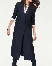 Pinstripe sako-kabát Aniston, tmavomodrá