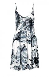 Plážové šaty, čierno-biele
