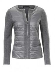 Pletená prešívaná bunda, sivá