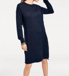 Pletené šaty Oversized, modré